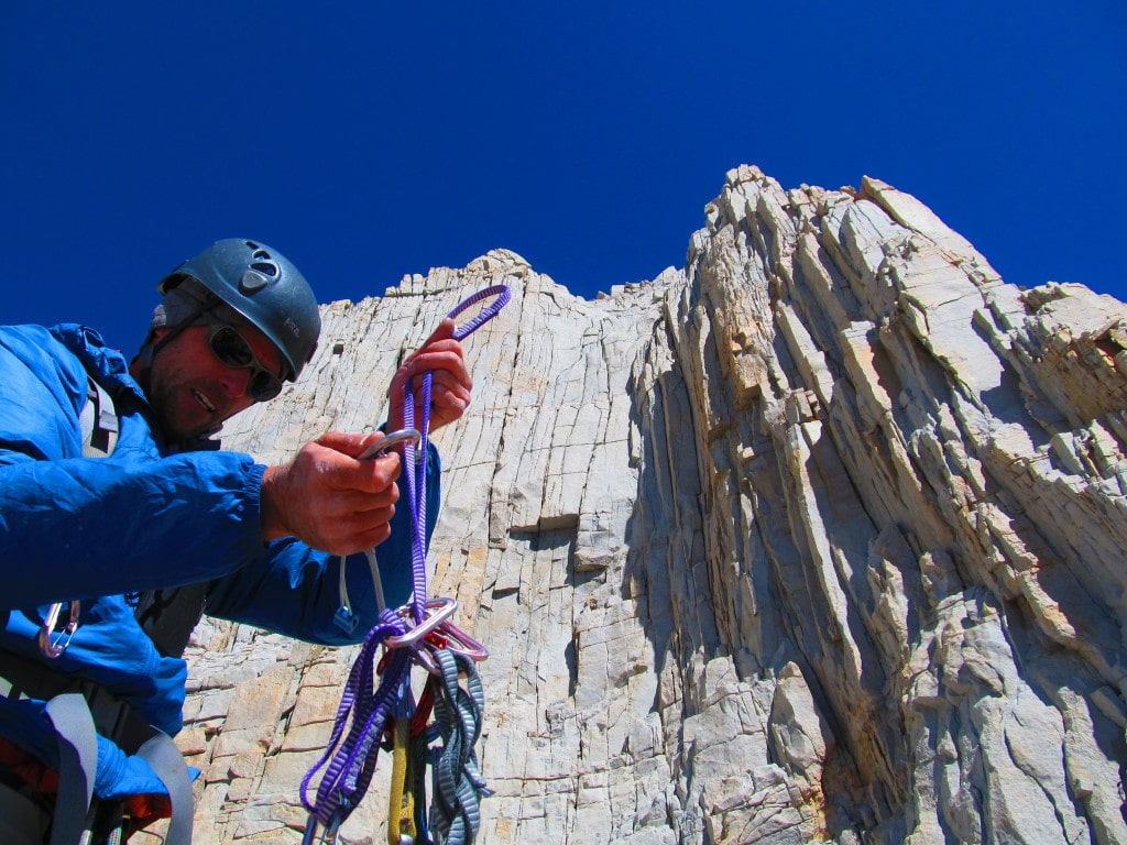 Traditional climbing | photo courtesy of Mammoth Climbing Guides
