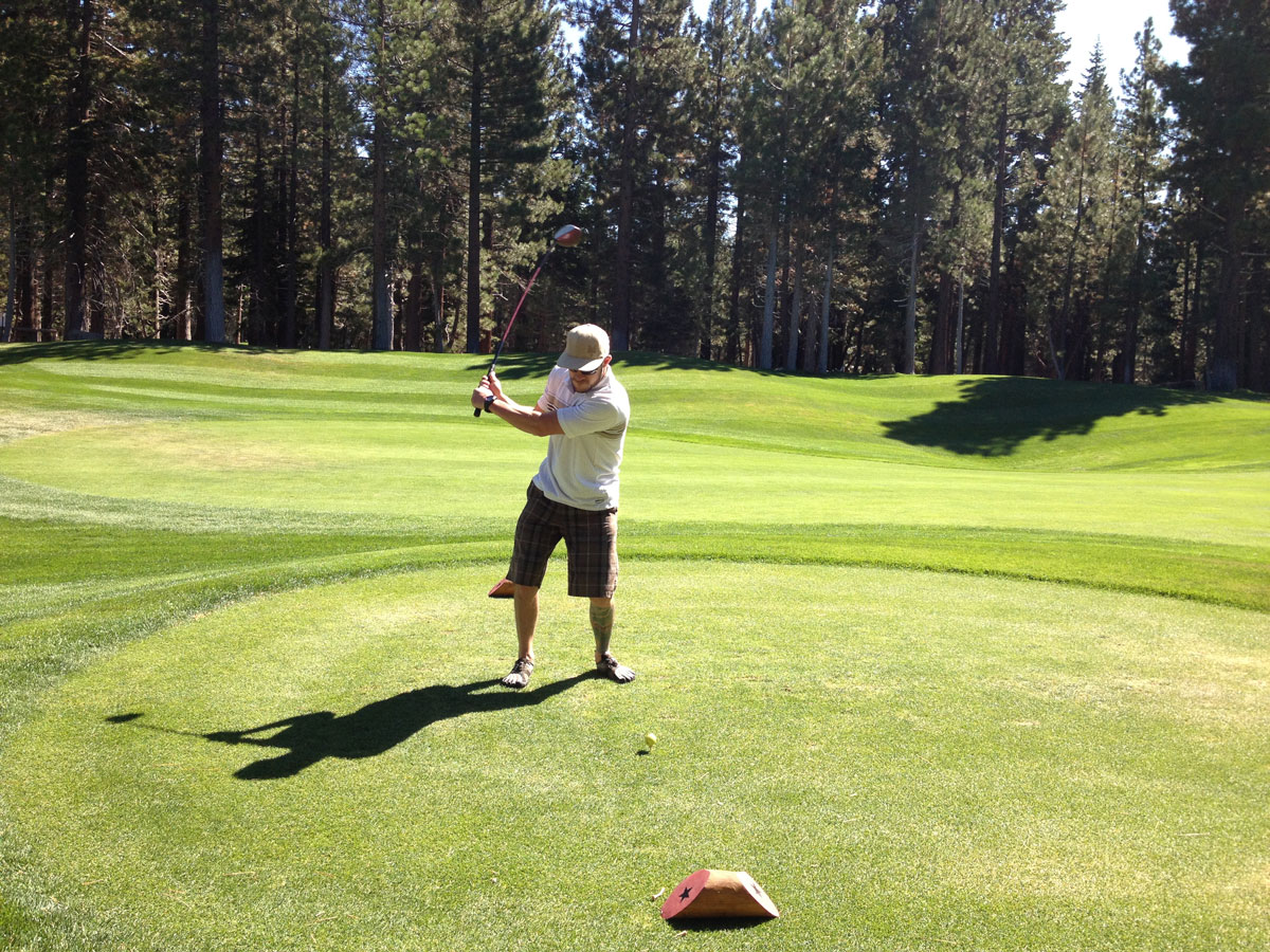 Eric golfing at Sierra Star